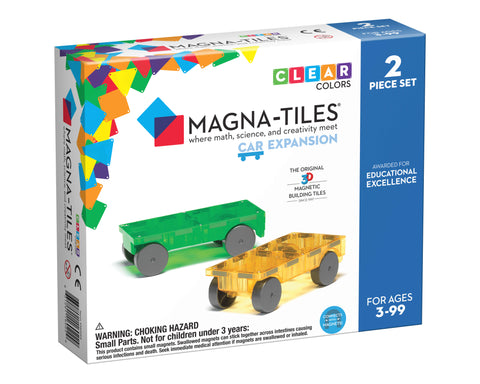 Magna-Tiles Cars 2-Piece Expansion Set - The Milk Moustache