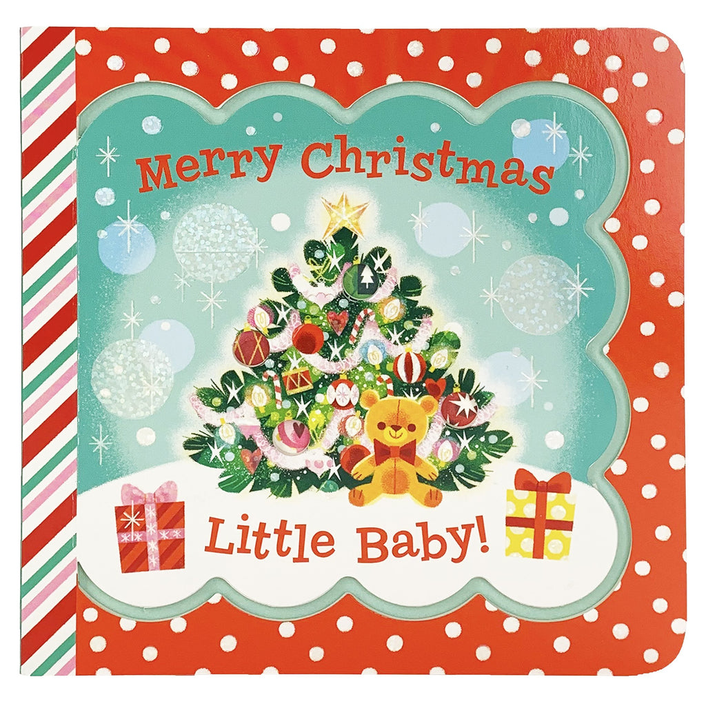 Merry Christmas Little Baby Keepsake Greeting Card Board Book - The Milk Moustache