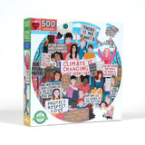 Climate Action 500-Piece Round Puzzle - The Milk Moustache