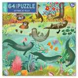 Otters At Play 64-Piece Puzzle - The Milk Moustache