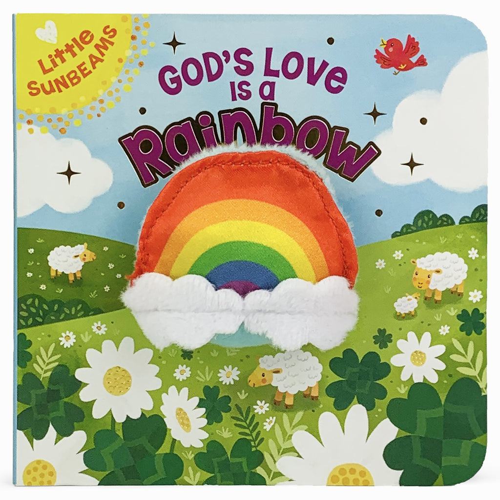 God's Love is a Rainbow Plush Finger Puppet Book - The Milk Moustache