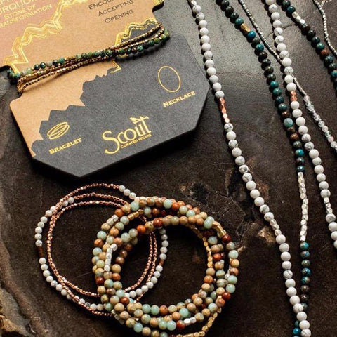 Scout Curated Wears Delicate Stone Wrap Bracelet/Necklace - Assorted Styles - The Milk Moustache