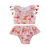Tassel Flamingo 2-Piece Swimsuit - The Milk Moustache