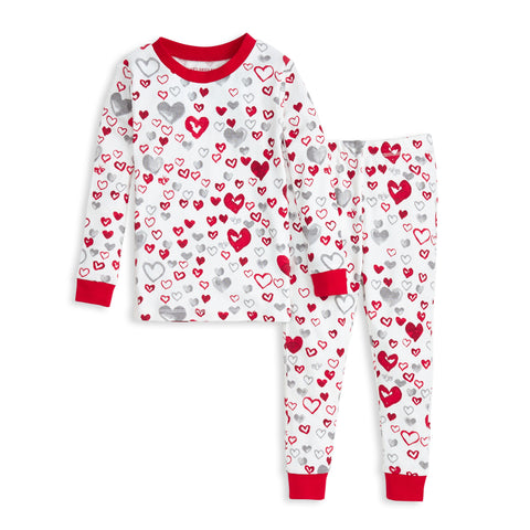 Toddler Love You Bunches Tee & Pant PJ Set - Rose Petal - The Milk Moustache