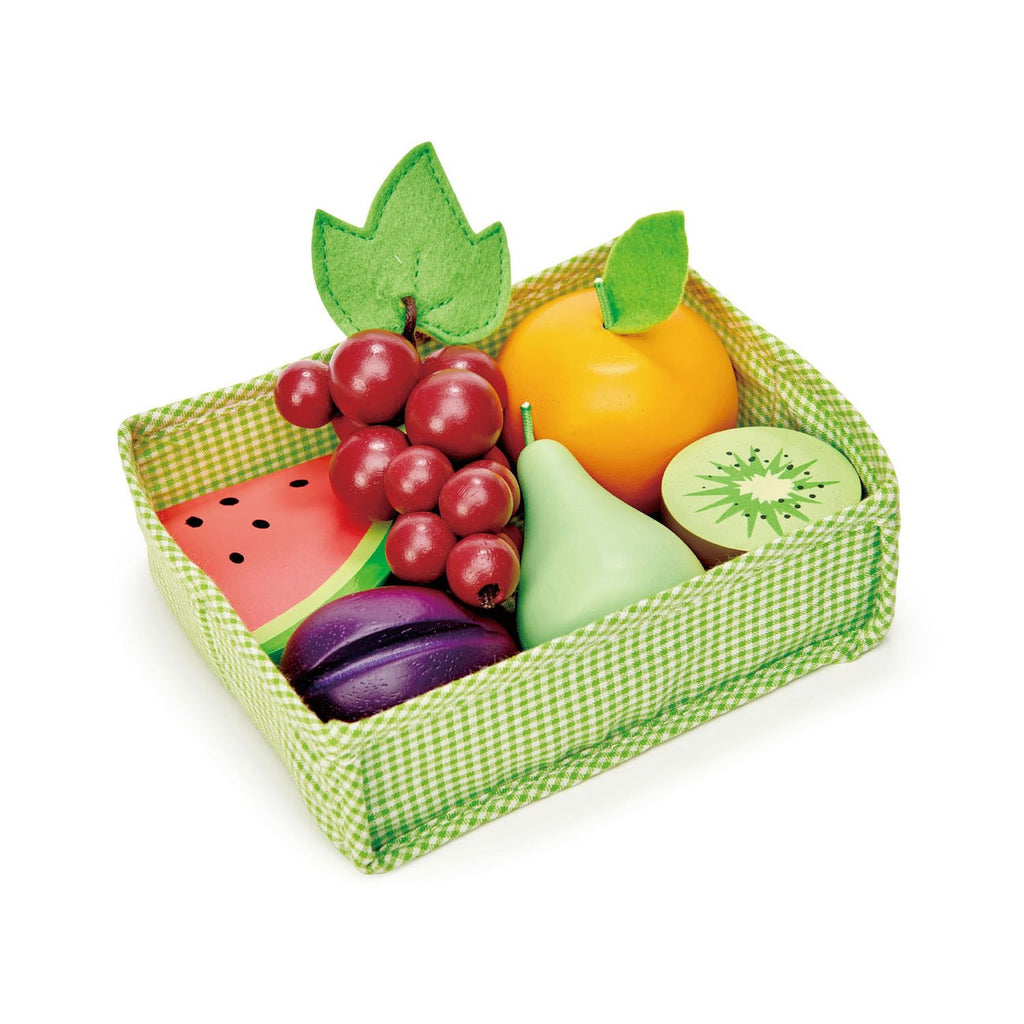 Tender Leaf Toys Wooden Play Food - Fruity Crate - The Milk Moustache