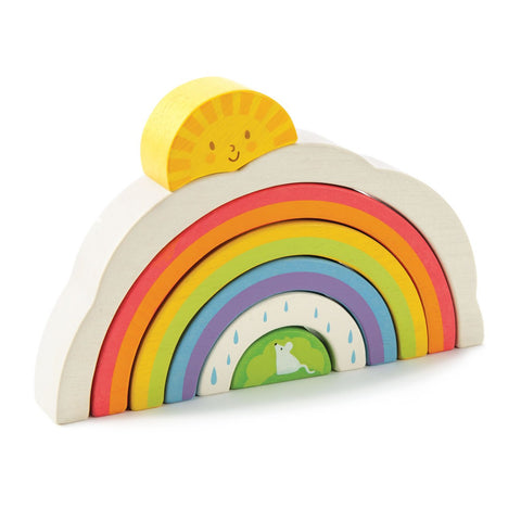 Tender Leaf Toys Wooden Rainbow Tunnel - The Milk Moustache