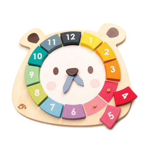 Tender Leaf Toys Wooden Bear Color Clock - The Milk Moustache