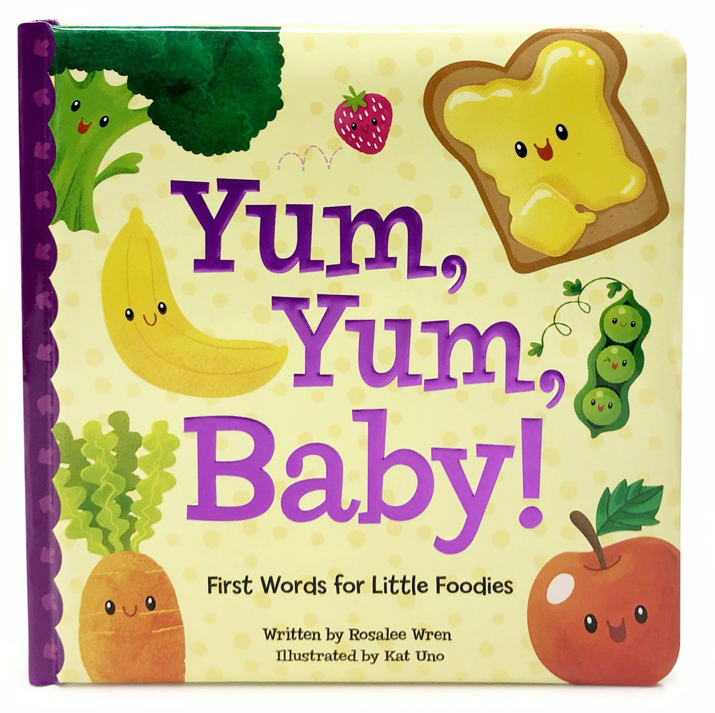 Yum, Yum, Baby Board Book - The Milk Moustache