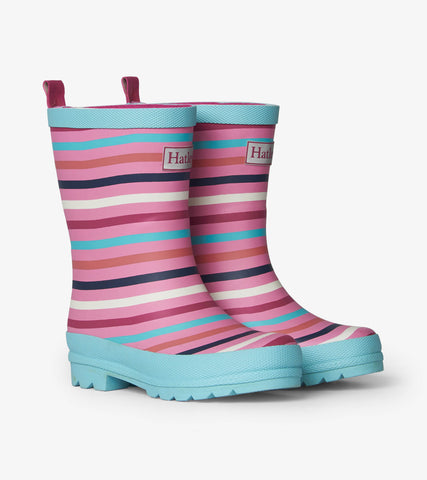 Hatley Rainbow Stripe Matte Rain Boots - The Milk Moustache