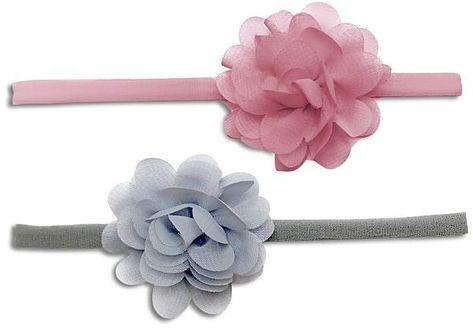 Baby Bling 2-Pack Mini Chiffon Flower Headband - Assorted Colors - The Milk Moustache
