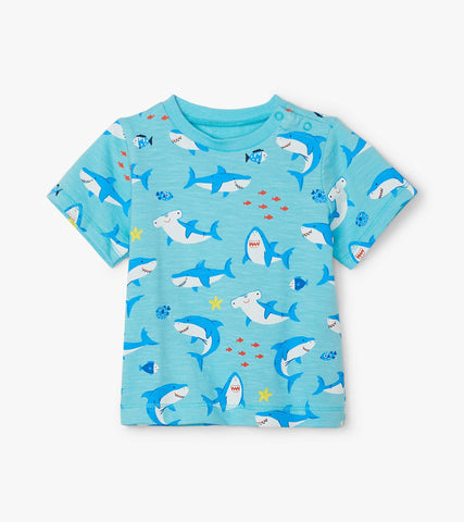 Hatley Shark Party Baby & Toddler Tee - The Milk Moustache