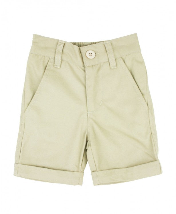RuggedButts Tan Khaki Cuffed Chino Shorts - The Milk Moustache