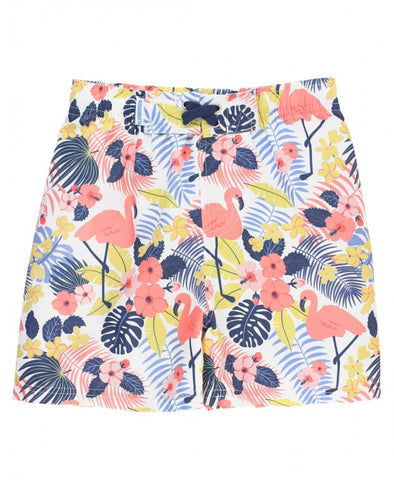 Tropical Flamingo Swim Trunks - The Milk Moustache