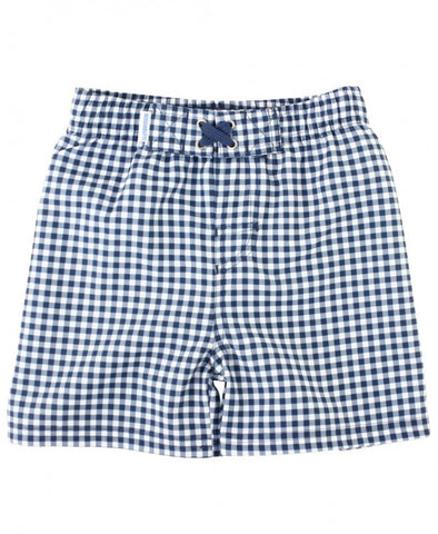 Navy Gingham Swim Trunks - The Milk Moustache