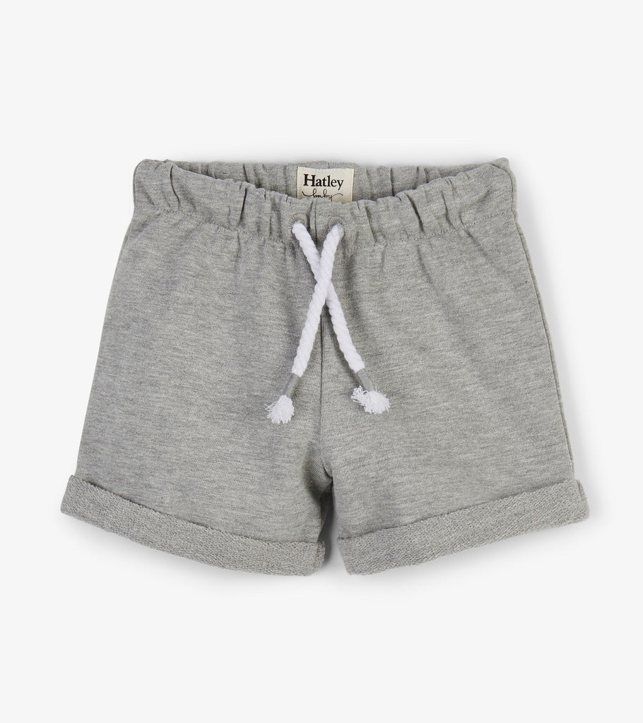 Hatley Grey French Terry Baby Shorts - The Milk Moustache