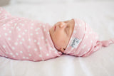 Copper Pearl Newborn Top Knot Hat - Lucy - The Milk Moustache