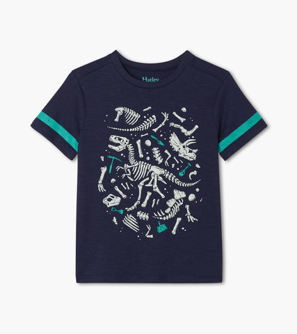 Hatley T-Rex Fossil Graphic Tee - The Milk Moustache