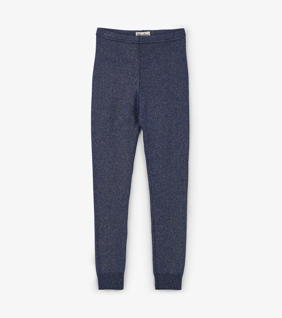 Hatley Glitzy Blue Cable Knit Leggings - The Milk Moustache