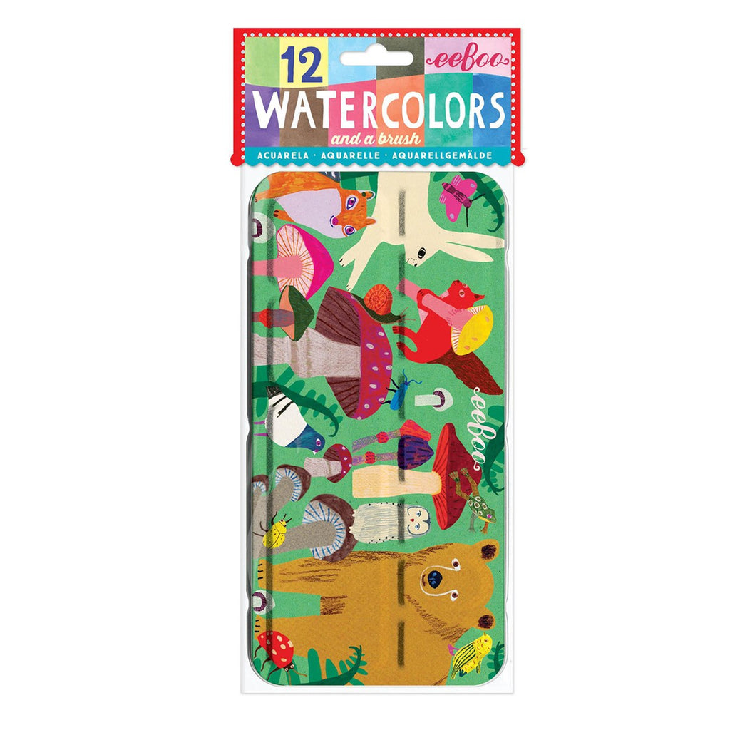 Mushroom Watercolor Paint Tin - The Milk Moustache