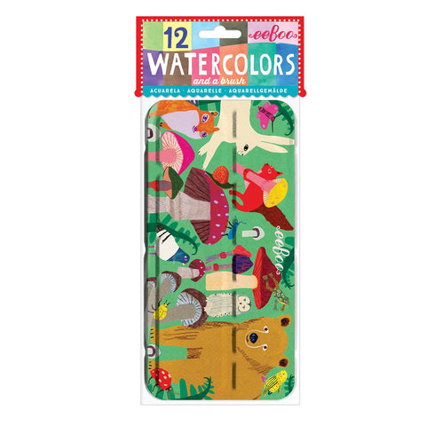 Mushroom Watercolor Paint Tin