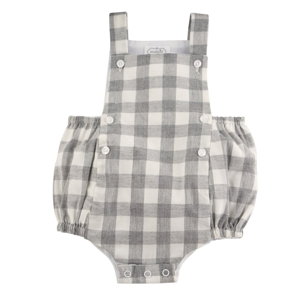 Gray Gingham Bubble - The Milk Moustache