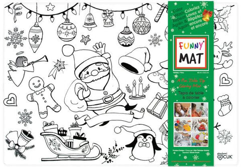 Funny Mat Color & Wash Place Mat - Holiday (White)