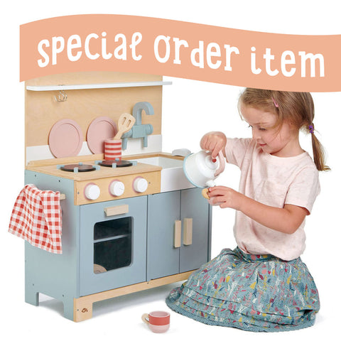 Tender Leaf Toys Wooden Home Kitchen - The Milk Moustache