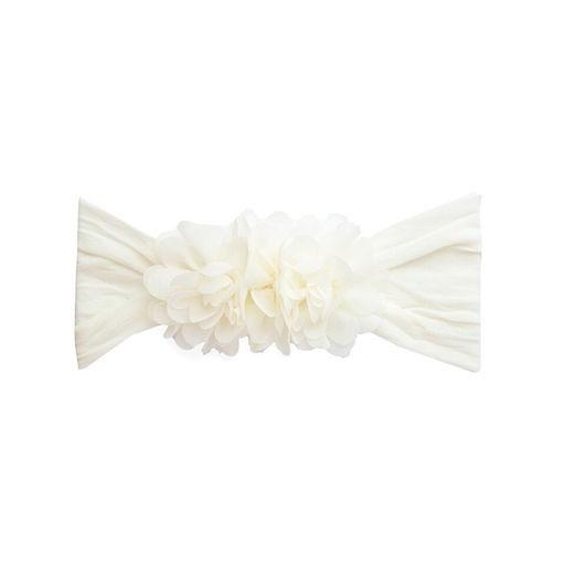 Baby Bling Chiffon Ruffle Flower Headband - Assorted Colors - The Milk Moustache