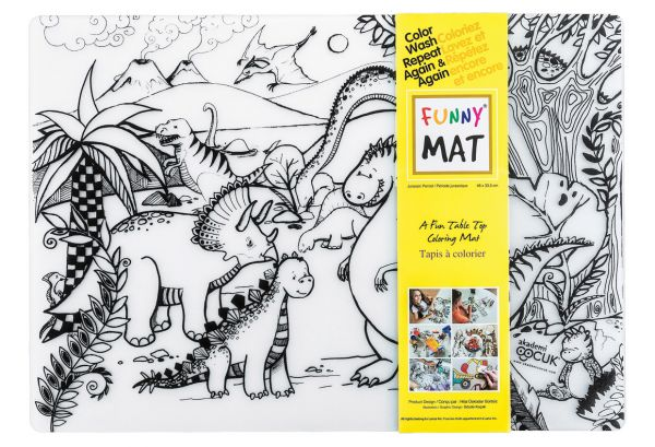 Funny Mat Color & Wash Place Mat - Jurrasic (Clear)