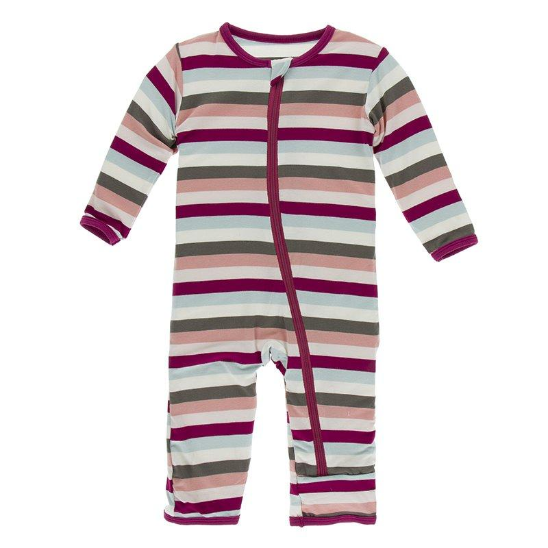 Kickee Pants Print Coverall with Zipper Meteorology Collection - Geology Stripe - The Milk Moustache