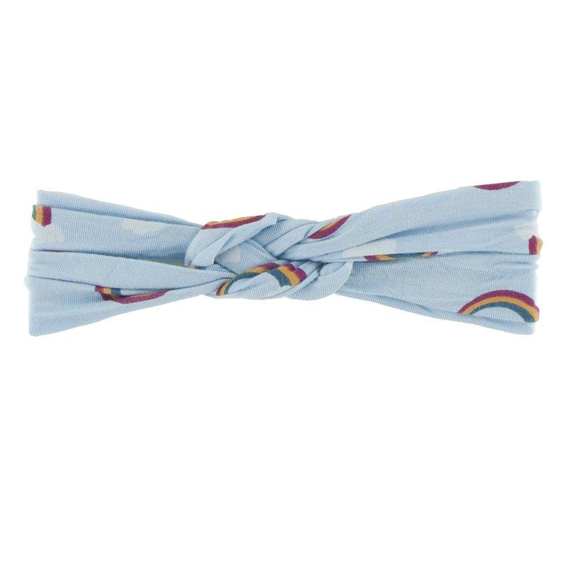 Kickee Pants Print Knot Headband Meteorology Collection - Pond Rainbow - The Milk Moustache