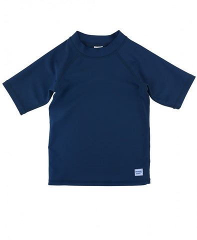 Navy Short Sleeve Rash Guard - The Milk Moustache