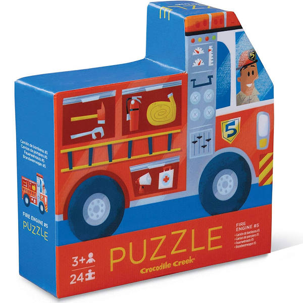 Fire Engine Two-Sided Puzzle 24 pc. - The Milk Moustache