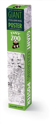 Giant Coloring Poster - Zoo - The Milk Moustache