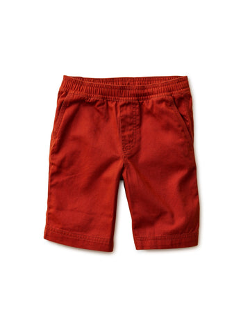 Tea Collection Easy Does It Twill Shorts in Dark Maple