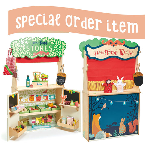 Tender Leaf Toys Wooden Woodland Stores and Theater - The Milk Moustache