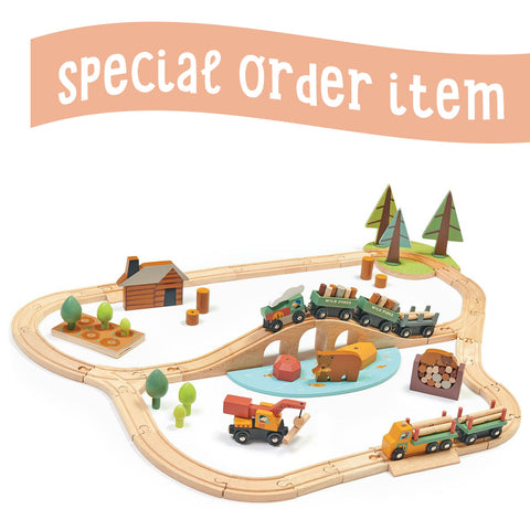 Tender Leaf Toys Wooden Wild Pines Train Set - The Milk Moustache