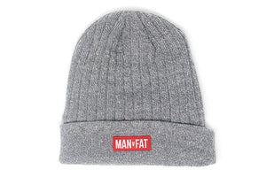 MAN v FAT Ribbed Beanie - FREE P&P