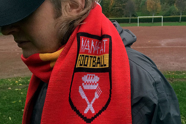 MAN v FAT Football Scarf - FREE P&P