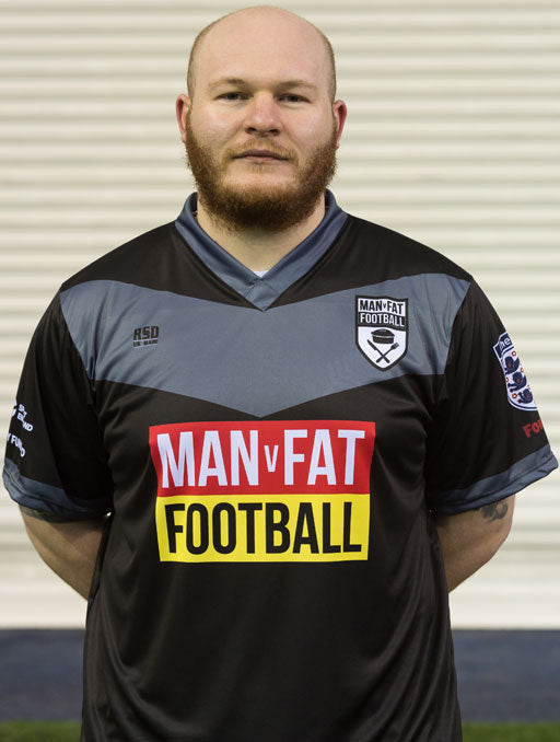 MAN v FAT Football official shirt black