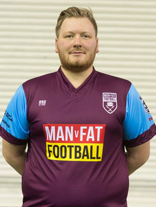 MAN v FAT Football official shirt purple