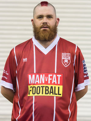 MAN v FAT Football official shirt red