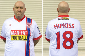 MAN v FAT Football official shirt white front and back