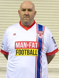 MAN v FAT Football official shirt white