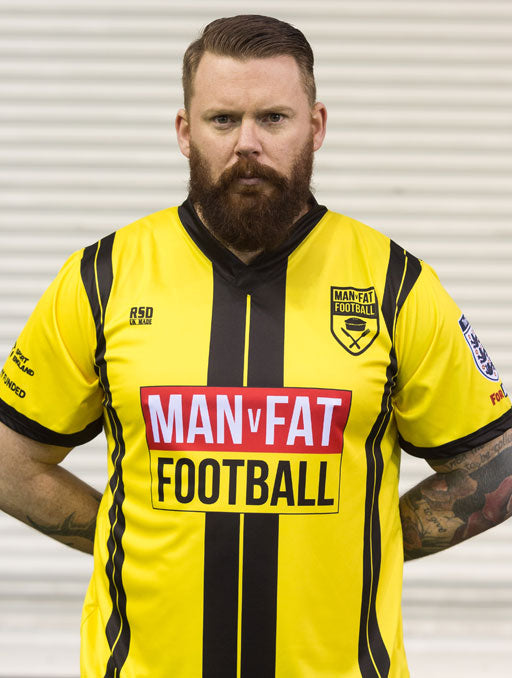 MAN v FAT Football official shirt yellow