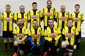 MAN v FAT Football official shirt yellow team