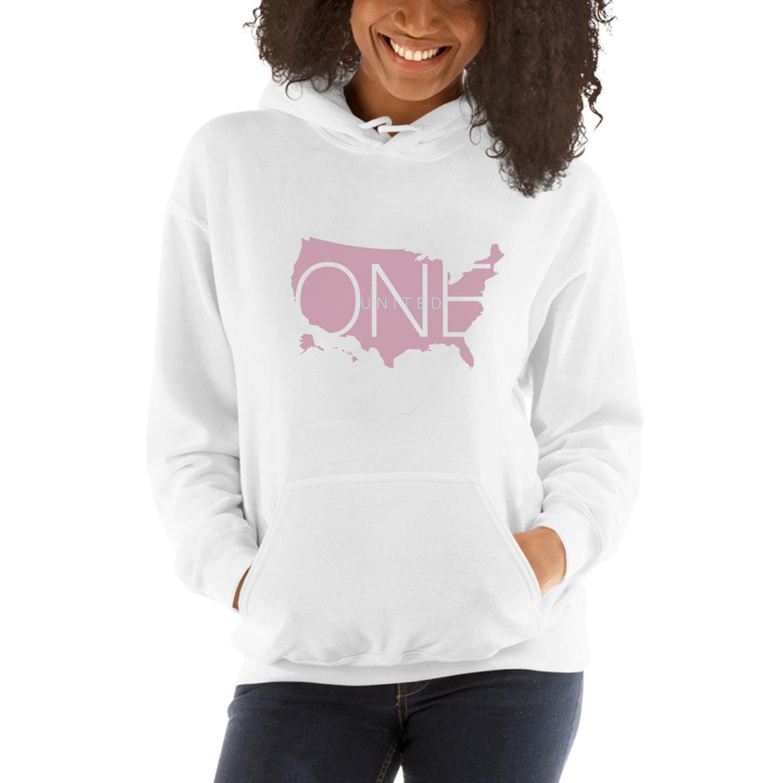 One Country United Unisex Logo White Hoodie