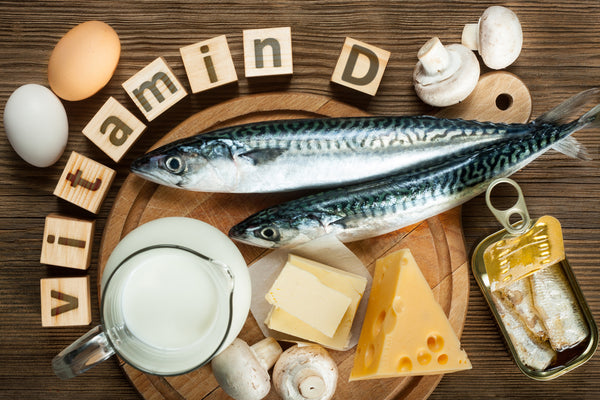 A range of food containing Vitamin D