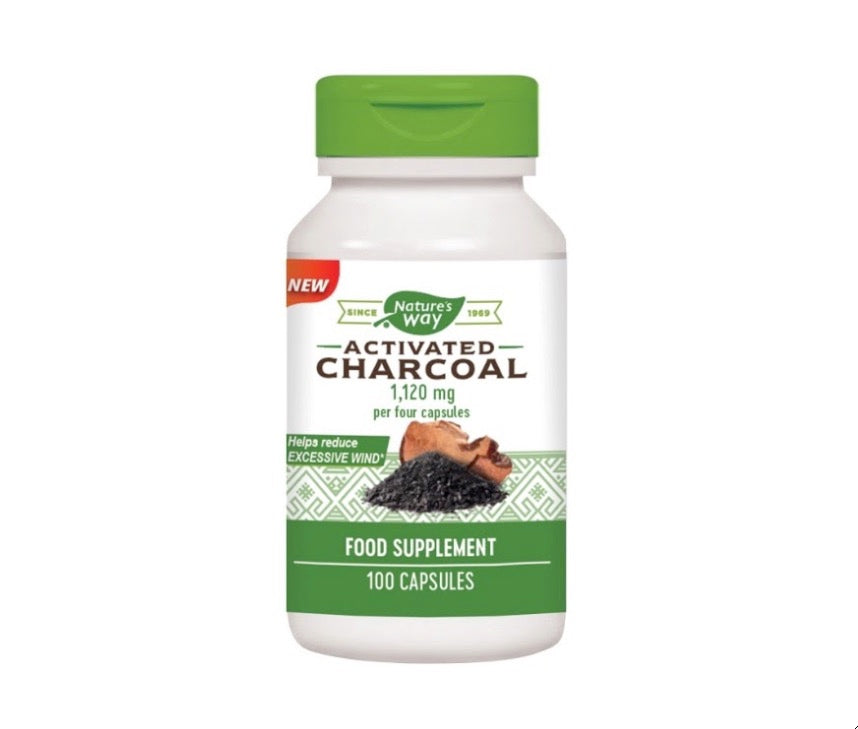Nature's Way Activated Charcoal | 100 Capsules