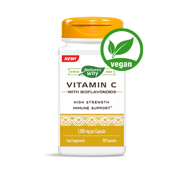Vitamin C High Strength 1,000mg with Bioflavonoids – 100 capsules